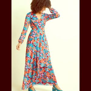 ModCloth vintage inspired long sleeve maxi dress